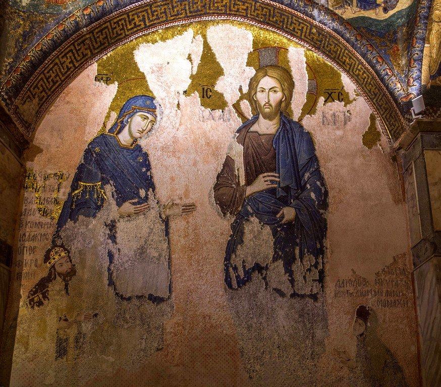 Деисис.Мозаика монастыря Хора в Константинополе. 1315 - 1321 годы.
