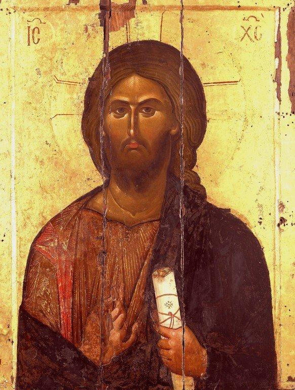 Христос Пантократор. Икона. Византия, XIII век. Монастырь Ватопед на Святой Горе Афон.