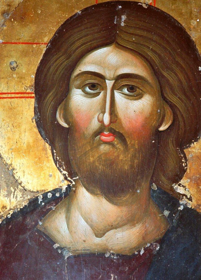 Лик Спасителя. Фрагмент византийской иконы XIV века в монастыре Святой Екатерины на Синае.