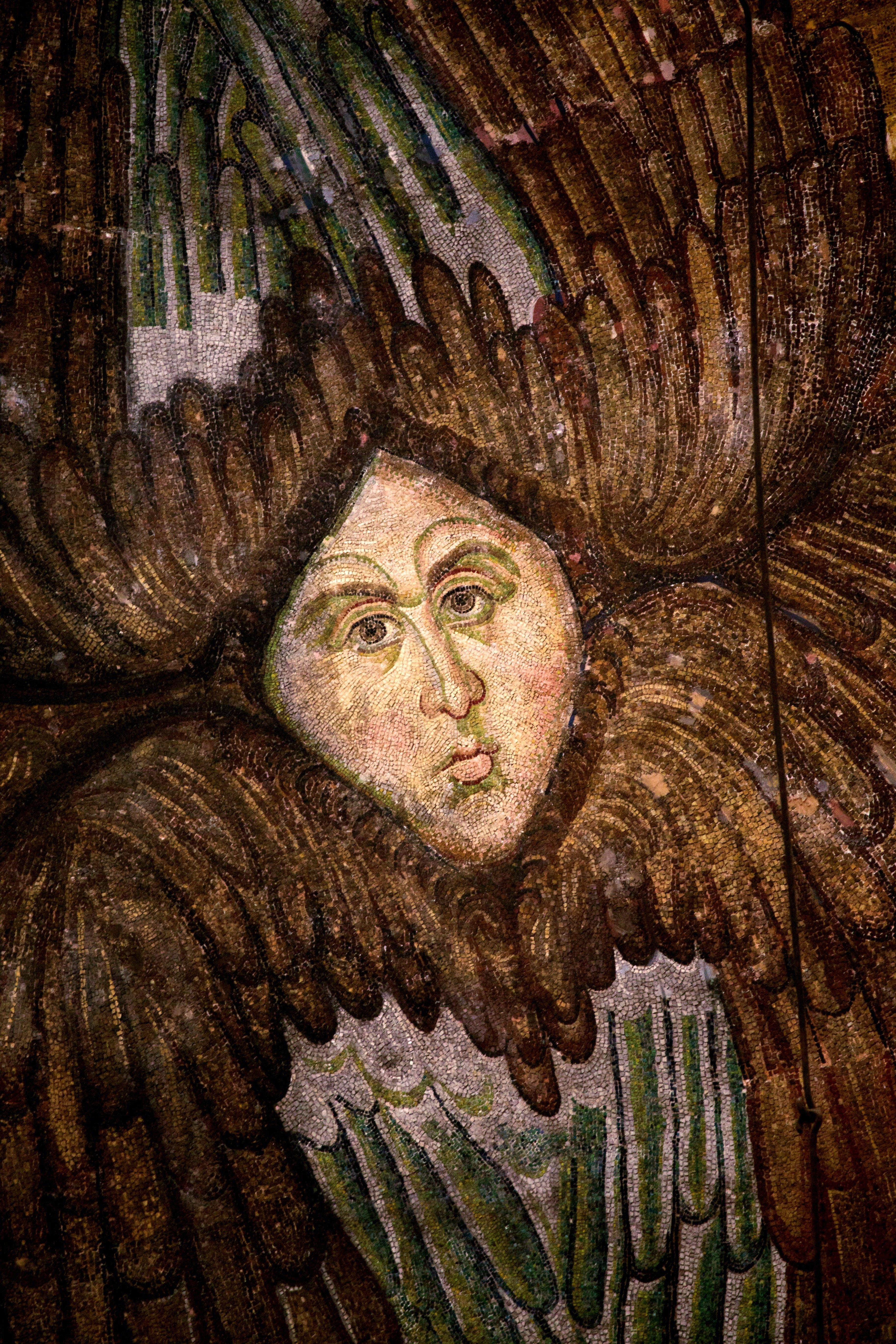 Серафим. Мозаика Собора Святой Софии в Константинополе. XIV век.