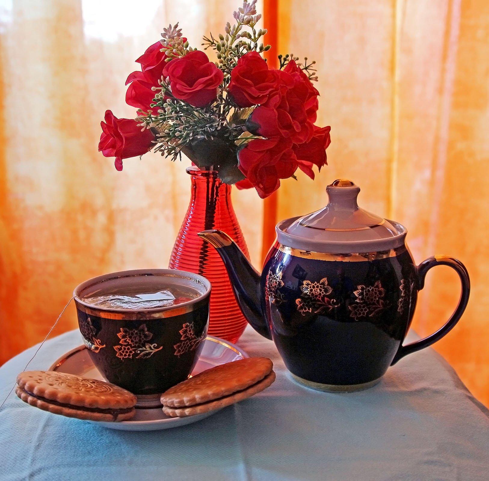 Открытка чайная, яга картинки сказки
