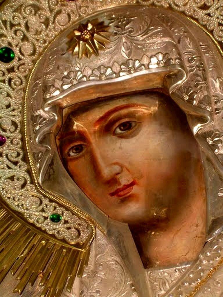 """Чудотворная икона Божией Матери """"Герондисса"""" (""""Геронтисса""""). Монастырь Пантократор на Святой Горе Афон."""