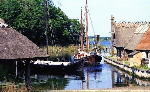 Средневековый город в Дании