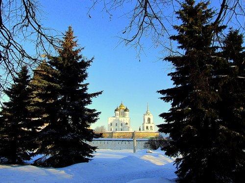 Зимой во Пскове